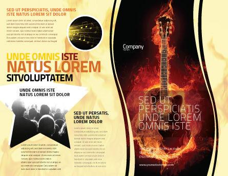 Jazz Guitar Brochure Template, Outer Page, 05536, Art & Entertainment — PoweredTemplate.com