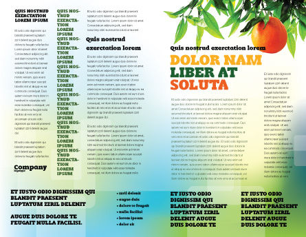 Orange Tree Brochure Template, Inner Page, 05547, Agriculture and Animals — PoweredTemplate.com
