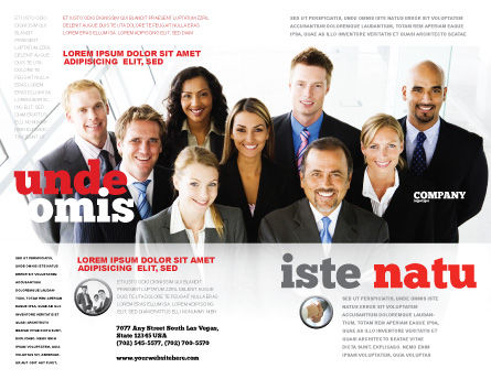 Business Personnel Brochure Template, Outer Page, 05550, Business — PoweredTemplate.com