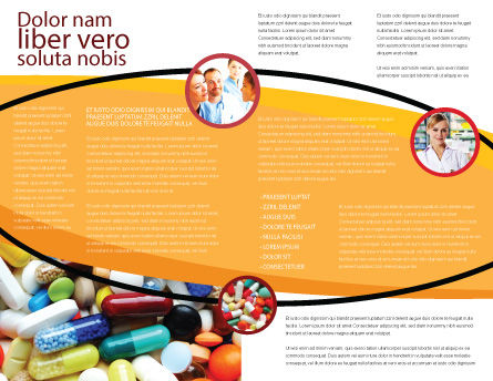 Drug Treatment Brochure Template Inner Page