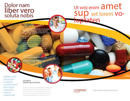 Drug Treatment Brochure Template Outer Page