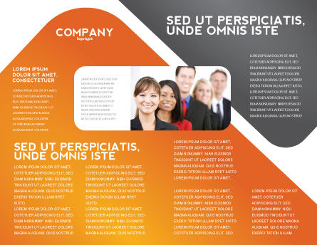 Question Brochure Template, Inner Page, 05578, Consulting — PoweredTemplate.com