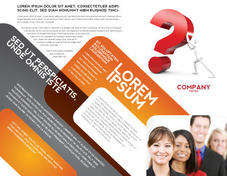 Question Brochure Template, Outer Page, 05578, Consulting — PoweredTemplate.com
