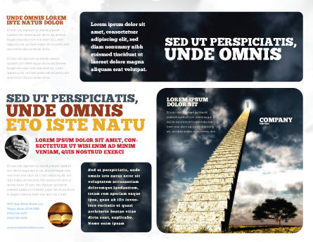Stairway To Heaven Brochure Template, Outer Page, 05581, Business Concepts — PoweredTemplate.com