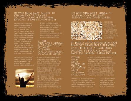 Arabic Brochure Template, Inner Page, 05584, Religious/Spiritual — PoweredTemplate.com