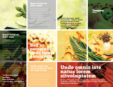 Gifts of Nature Brochure Template, Outer Page, 05587, Food & Beverage — PoweredTemplate.com