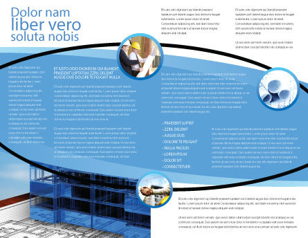 Office Building Planning Brochure Template, Inner Page, 05599, Construction — PoweredTemplate.com