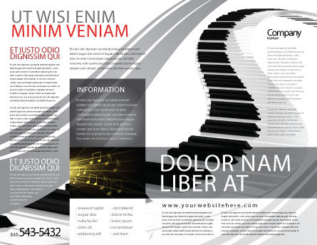 Piano Brochure Template Outer Page