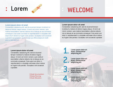 Graduation In Red Blue Colors Brochure Template, Inner Page, 05620, Education & Training — PoweredTemplate.com