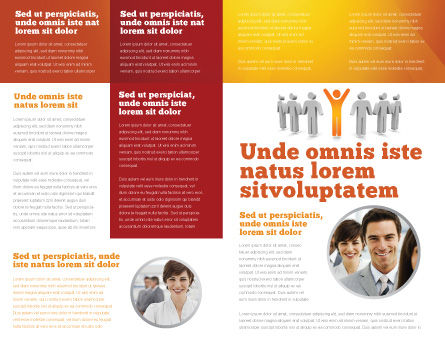 Orange Winner Brochure Template, Inner Page, 05622, Careers/Industry — PoweredTemplate.com