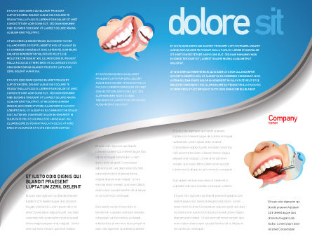 Toothpaste Brochure Template, Inner Page, 05623, Medical — PoweredTemplate.com