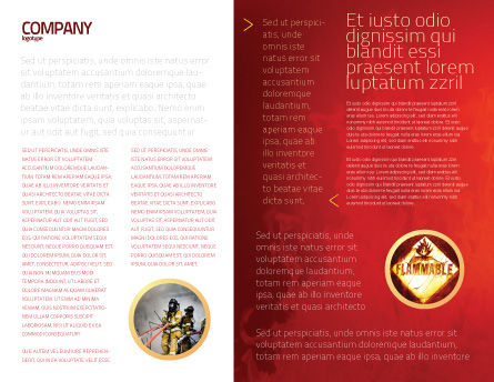 Fire Extinguisher Brochure Template Inner Page