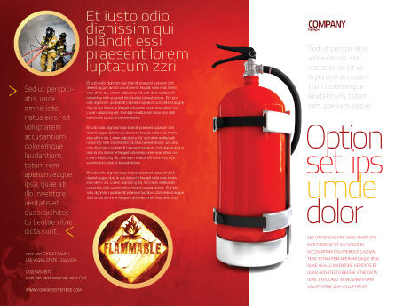 Fire Extinguisher Brochure Template Outer Page