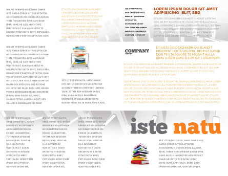 Book Publishing Brochure Template, Inner Page, 05647, Education & Training — PoweredTemplate.com