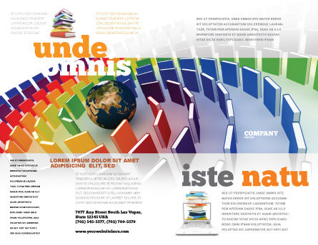 Book Publishing Brochure Template, Outer Page, 05647, Education & Training — PoweredTemplate.com
