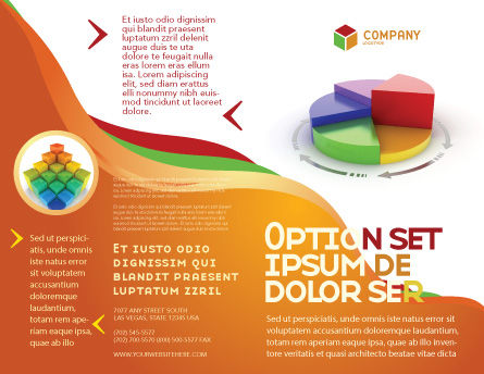 3D Pie Diagram Brochure Template Outer Page
