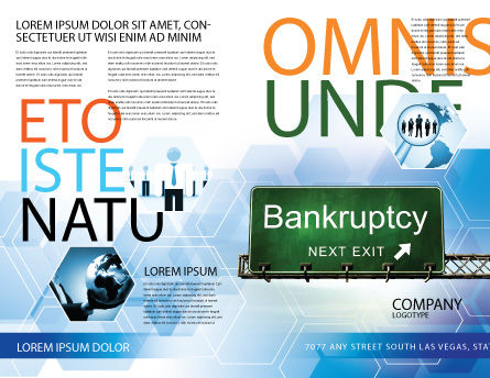 Bankrupt Brochure Template, Outer Page, 05652, Financial/Accounting — PoweredTemplate.com