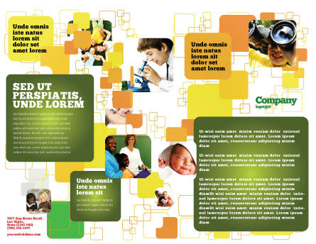 Kids Computer Brochure Template, Inner Page, 05659, Education & Training — PoweredTemplate.com