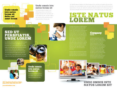 Kids Computer Brochure Template, Outer Page, 05659, Education & Training — PoweredTemplate.com