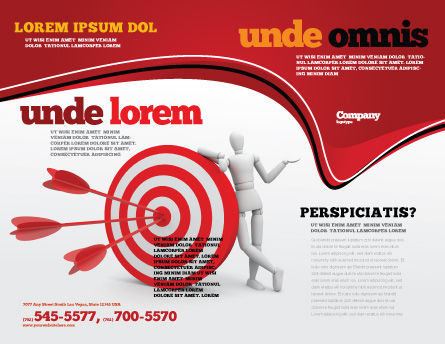 Reach Target Brochure Template, Outer Page, 05667, Consulting — PoweredTemplate.com