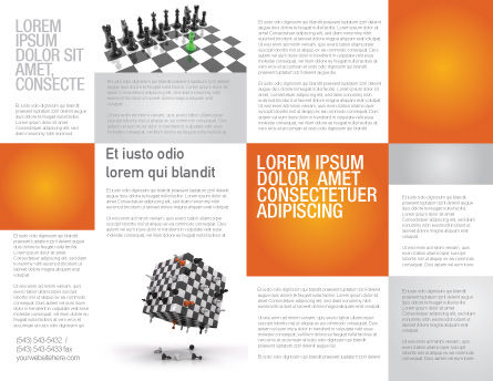 Game of Chess Brochure Template, Inner Page, 05694, Business Concepts — PoweredTemplate.com