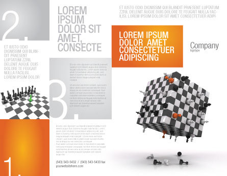 Game of Chess Brochure Template, Outer Page, 05694, Business Concepts — PoweredTemplate.com