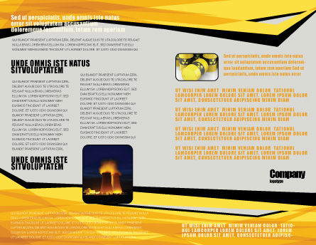 Nuclear Fuel Brochure Template, Inner Page, 05708, Military — PoweredTemplate.com