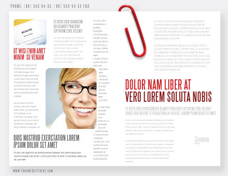 Paperclip Brochure Template, Outer Page, 05715, Business — PoweredTemplate.com