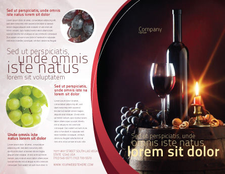Wine Bottle Brochure Template Outer Page