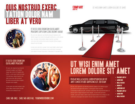 Limousine Brochure Template Outer Page