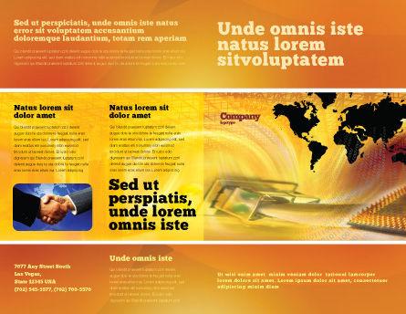 Transworld Logistics Brochure Template, Outer Page, 05722, Cars/Transportation — PoweredTemplate.com