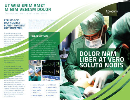 Anesthesia In Surgery Brochure Template Outer Page