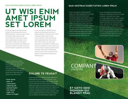 American Football Field Brochure Template Inner Page