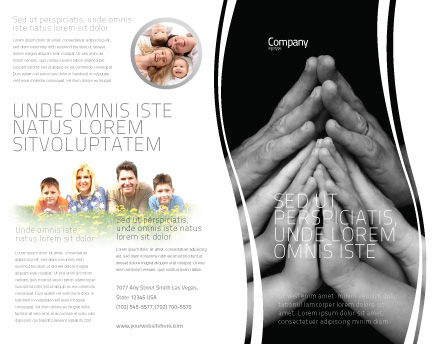 Family Harmony Brochure Template Outer Page