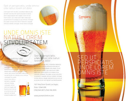 Goblet Of Beer Foaming Brochure Template Outer Page