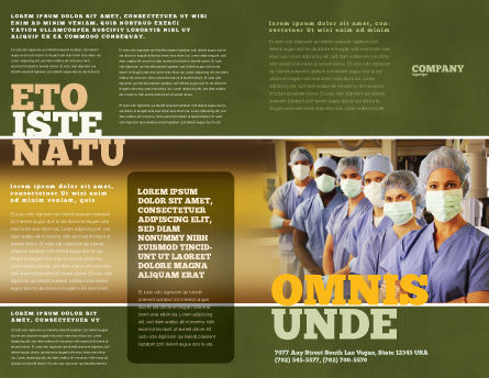 Medical Personnel In Hospital Brochure Template Outer Page