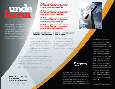 Candle In Hands Brochure Template Inner Page