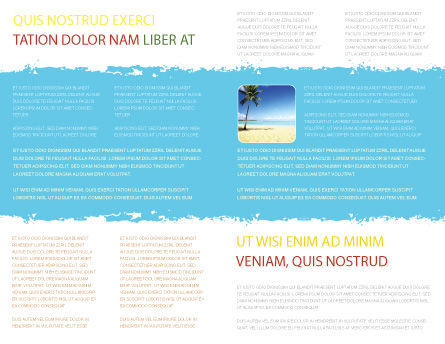 Beach Bench Brochure Template, Inner Page, 05791, Careers/Industry — PoweredTemplate.com