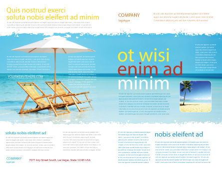Beach Bench Brochure Template Outer Page