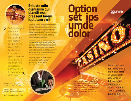 Casino Brochure Template Outer Page