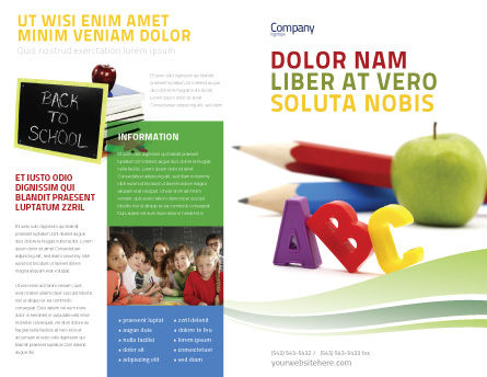 Start Education Brochure Template Outer Page
