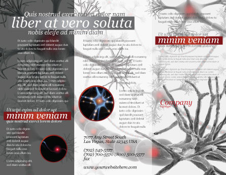 Neural Nodes Brochure Template, Outer Page, 05826, Medical — PoweredTemplate.com