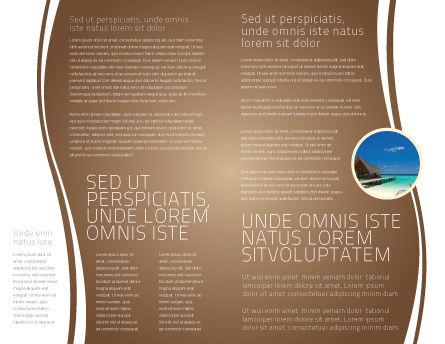 Sand Footprints Brochure Template, Inner Page, 05834, Religious/Spiritual — PoweredTemplate.com