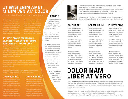 Present Past Brochure Template, Inner Page, 05847, Consulting — PoweredTemplate.com