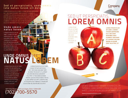 Apples ABC Brochure Template, Outer Page, 05849, Education & Training — PoweredTemplate.com