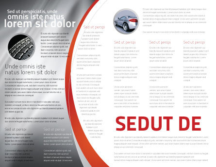 Tires Brochure Template Inner Page