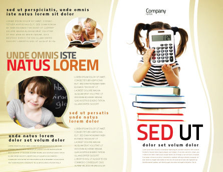 School Math Brochure Template Design And Layout, Download Now