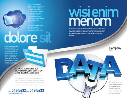 Data Safety Brochure Template, Outer Page, 05887, Technology, Science & Computers — PoweredTemplate.com