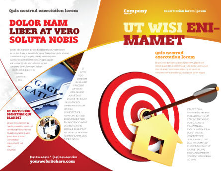 House Target Brochure Template Outer Page