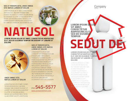 House Debt Brochure Template Outer Page